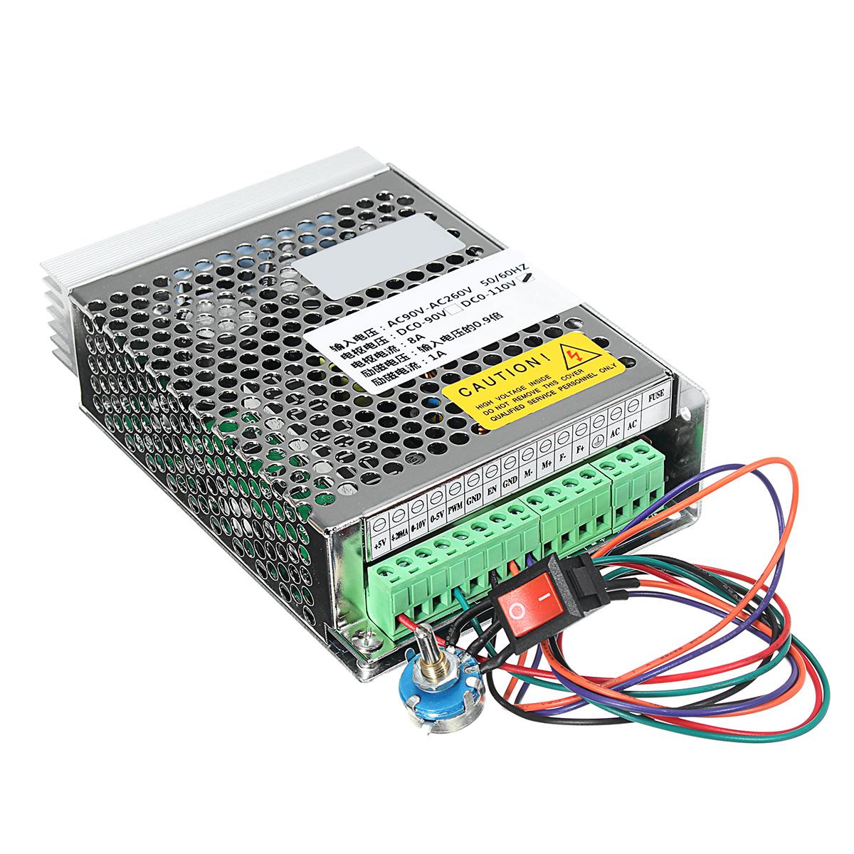 hight resolution of ac90v 260v input dc110v output 8a pwm dc motor speed controller driver speed governor