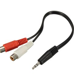 3 5mm male mini stereo jack to 2 female rca twin phono cable lead y adapter [ 1200 x 1200 Pixel ]
