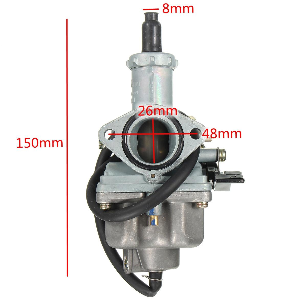hight resolution of intake 26mm air filter carburetor 38mm carb for honda cb125 cb125s cg125
