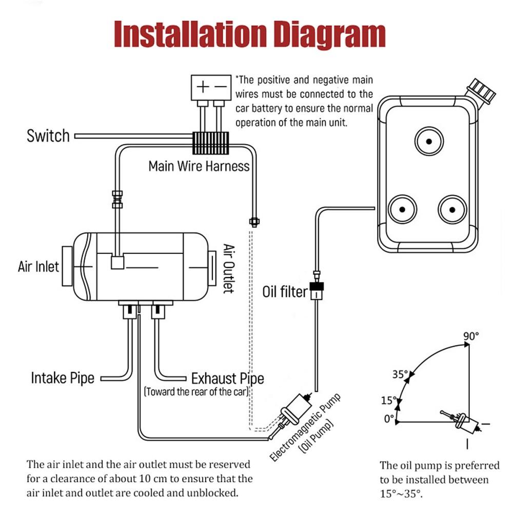 medium resolution of 12v fuel heater wiring diagram wiring diagram 12v 8kw air diesels fuel heater lcd thermostat for