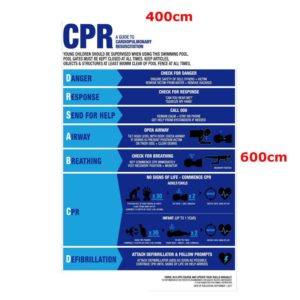 hight resolution of swimming pool spa cpr sign resuscitation chart warning safety sign pvc sticker cod