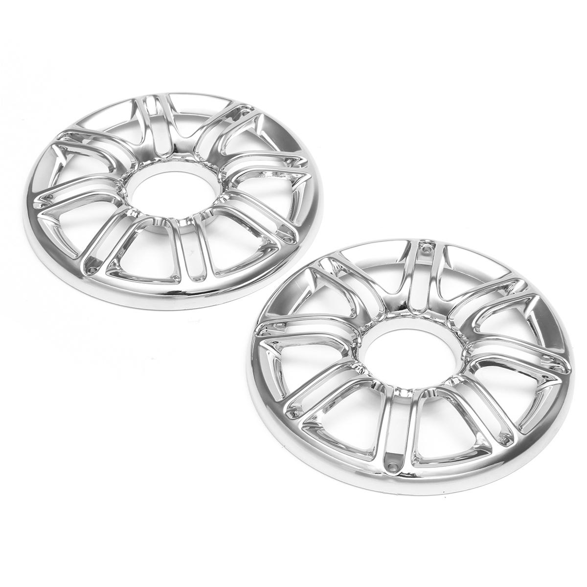 Pair plate brust speaker trim grill cover chrome for