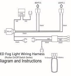 12v 40a led fog light wiring harness laser rocker switch relay fuse kit [ 1200 x 1200 Pixel ]