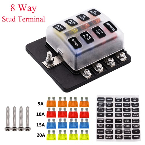 small resolution of imars 8 way fuse box 12v 32v circuit standard blade block holder kit car caravan