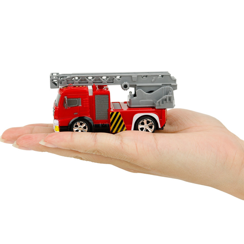 Coke Can Shenqiwei 8027 1:58 Aerial Ladder Fire-Truck RC Car Mini 4 Channel