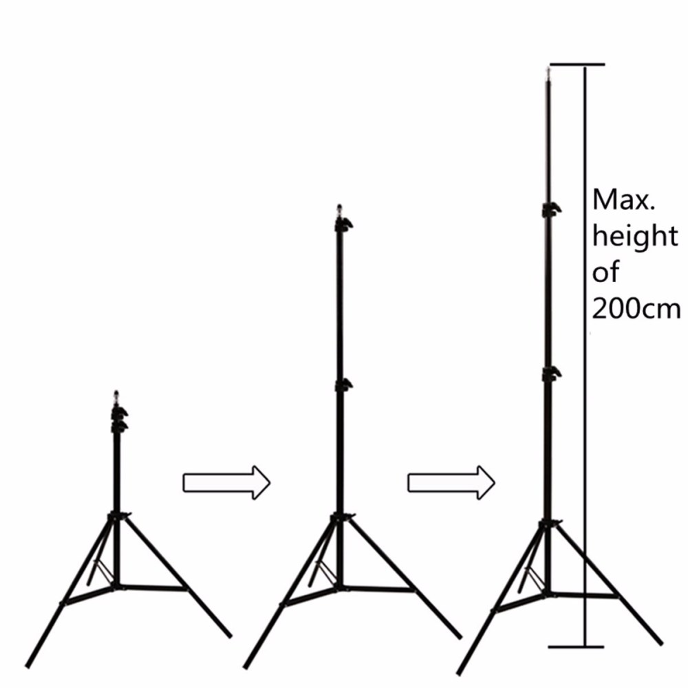 medium resolution of 2pcs professional portable photo 2m 7ft light stand camera tripod lighting kit