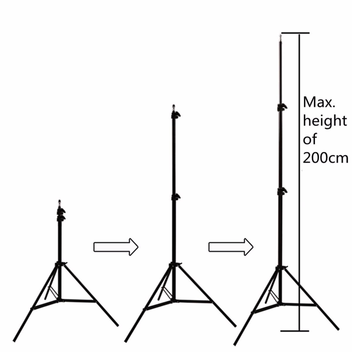 hight resolution of 2pcs professional portable photo 2m 7ft light stand camera tripod lighting kit