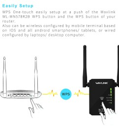 wavlink ws wn578 2 4g 300mbps wireless router wifi repeater booster extender 2x5dbi antennas [ 1000 x 1000 Pixel ]
