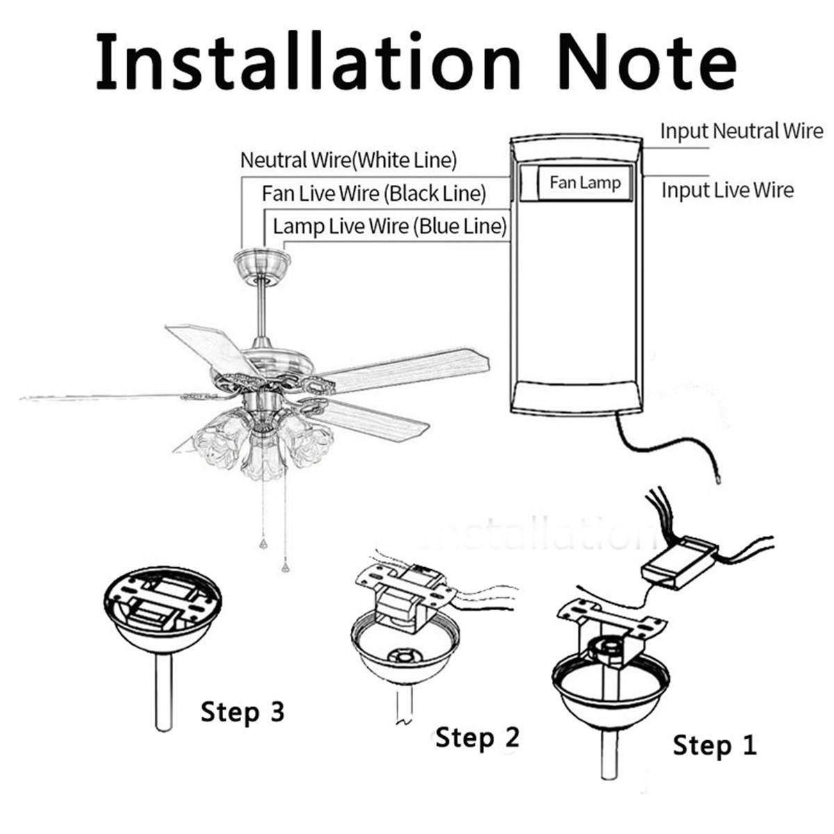 Ac220-240v universal ceiling fan lamp controller kit
