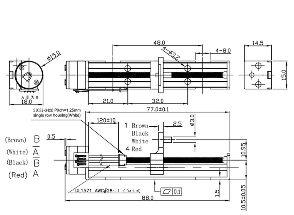 chihai chihai ch-sm1545-m3xp0.5 permanent magnet stepper