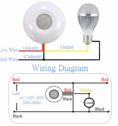 360 infrared human body induction switch pir motion sensor detector for ceiling lamp [ 1200 x 1200 Pixel ]