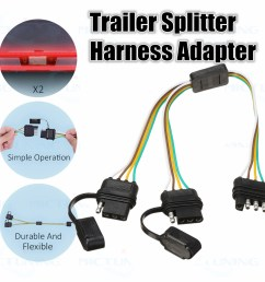 trailer splitter harness adapter 2 way 4pin y split for rear camera tailgate light [ 1200 x 1200 Pixel ]