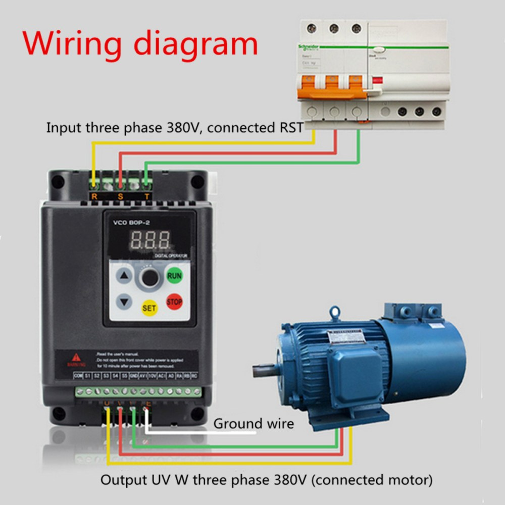 medium resolution of 0 75kw 380v variable frequency inverter built in plc 3 phase in 3 phase out