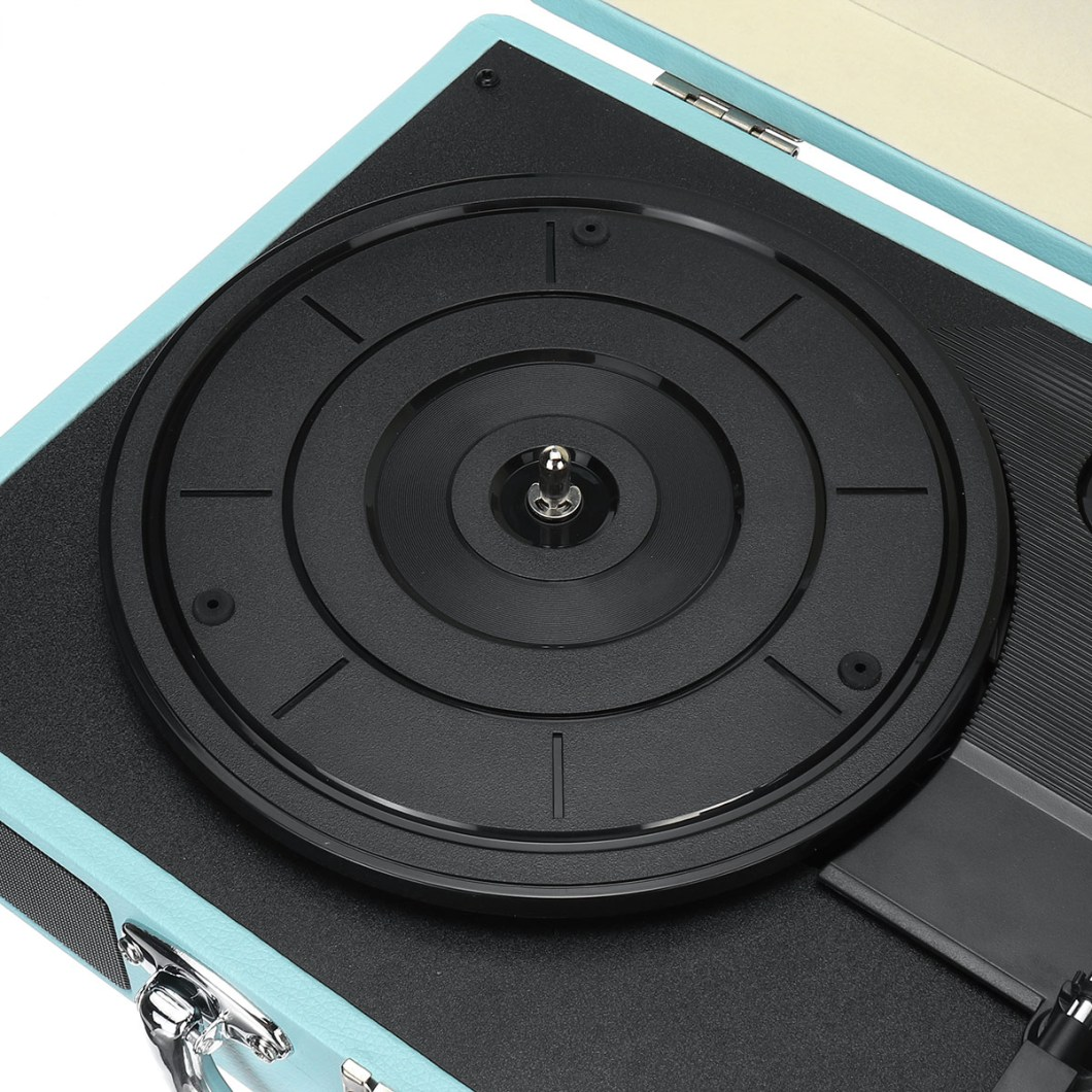 Vintage Vinyl LP Record Player Stereo Turntable 3Speed 2 Speakers Radio Recorder 35