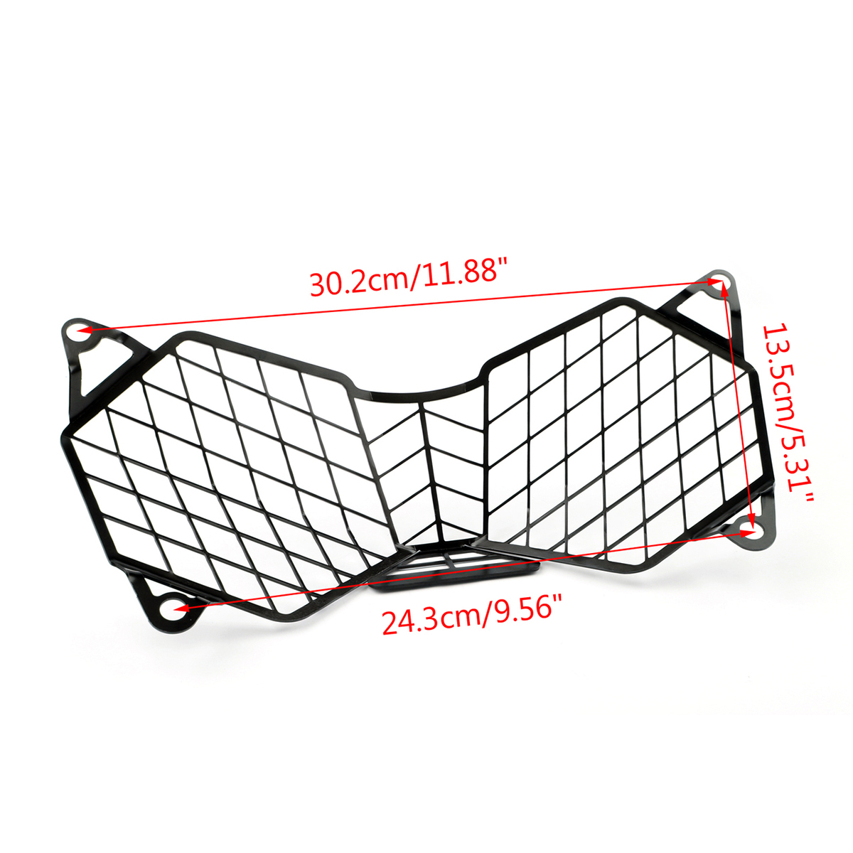 Black Motorcycle Headlight Grille Light Cover Protective