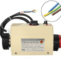 coasts 3kw 220v swimming pool spa hot tub electric water heater thermostat [ 1200 x 1200 Pixel ]