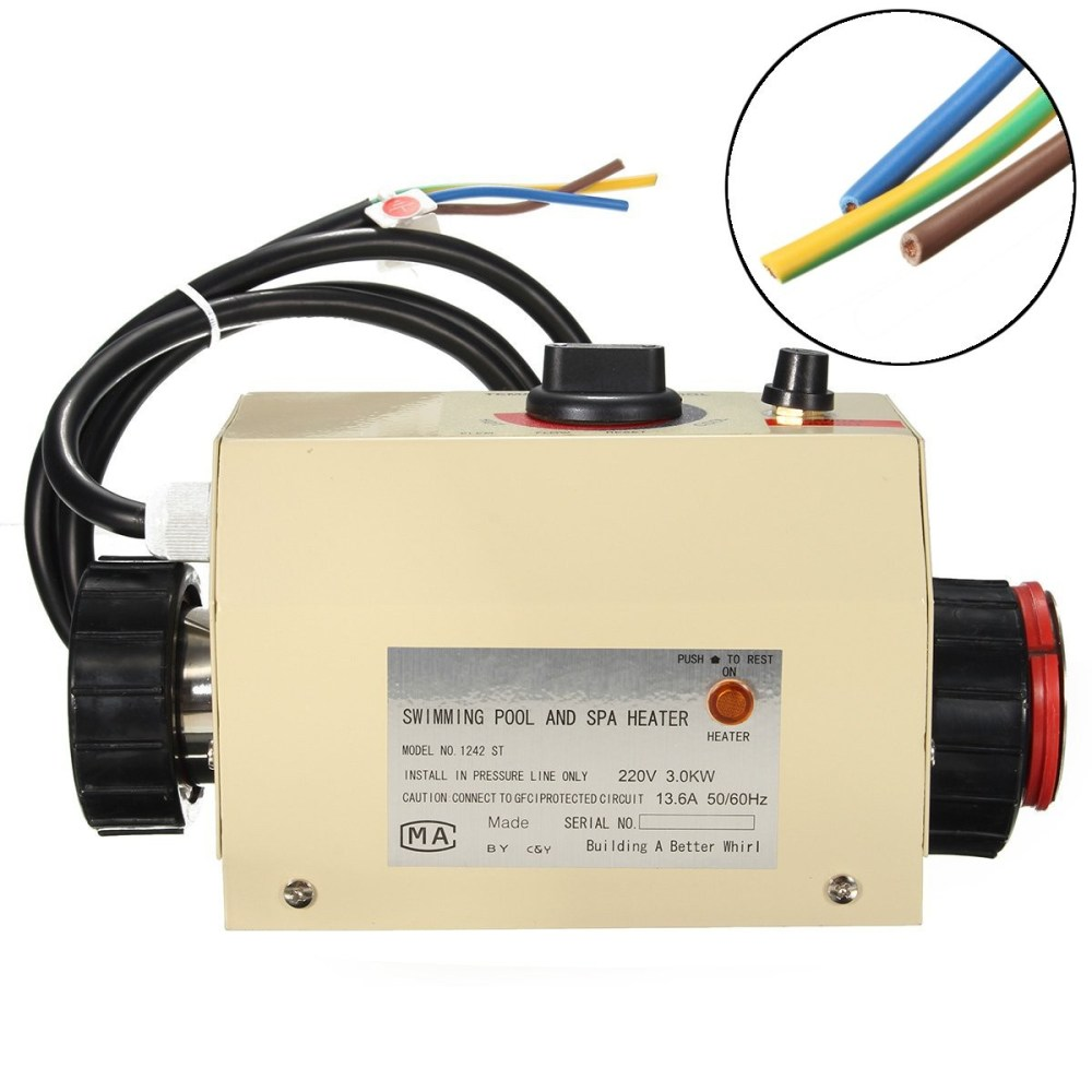 medium resolution of coasts 3kw 220v swimming pool spa hot tub electric water heater thermostat