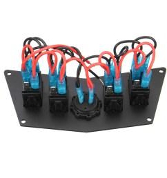 4 rocker switch dash panel for polaris ranger rzr 800s 900xp xp900 570 atv utv [ 1200 x 1200 Pixel ]