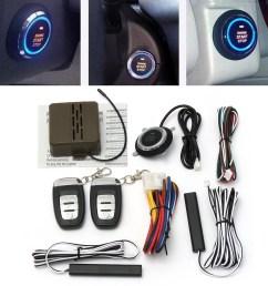 8pcs car alarm start engine system pke keyless entry remote start push button [ 1200 x 1200 Pixel ]