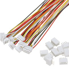 excellway 10 sets mini micro jst 1 5mm zh 4 pin connector plug with [ 1200 x 1200 Pixel ]