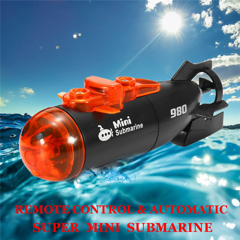Mini Micro Radio Remote Control RC Submarine Ship Boat With LED Light Toy Gift