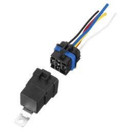 5 pcs automotive relay switch harness 12awg wires waterproof 40 30amp 12vdc [ 1200 x 1200 Pixel ]