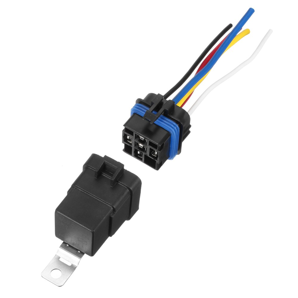 medium resolution of 5 pcs automotive relay switch harness 12awg wires waterproof 40 30amp 12vdc