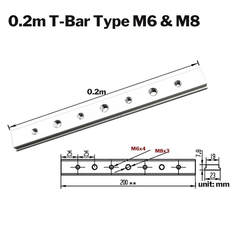 Aluminium alloy 200mm t slot nut t-bar slider t-track
