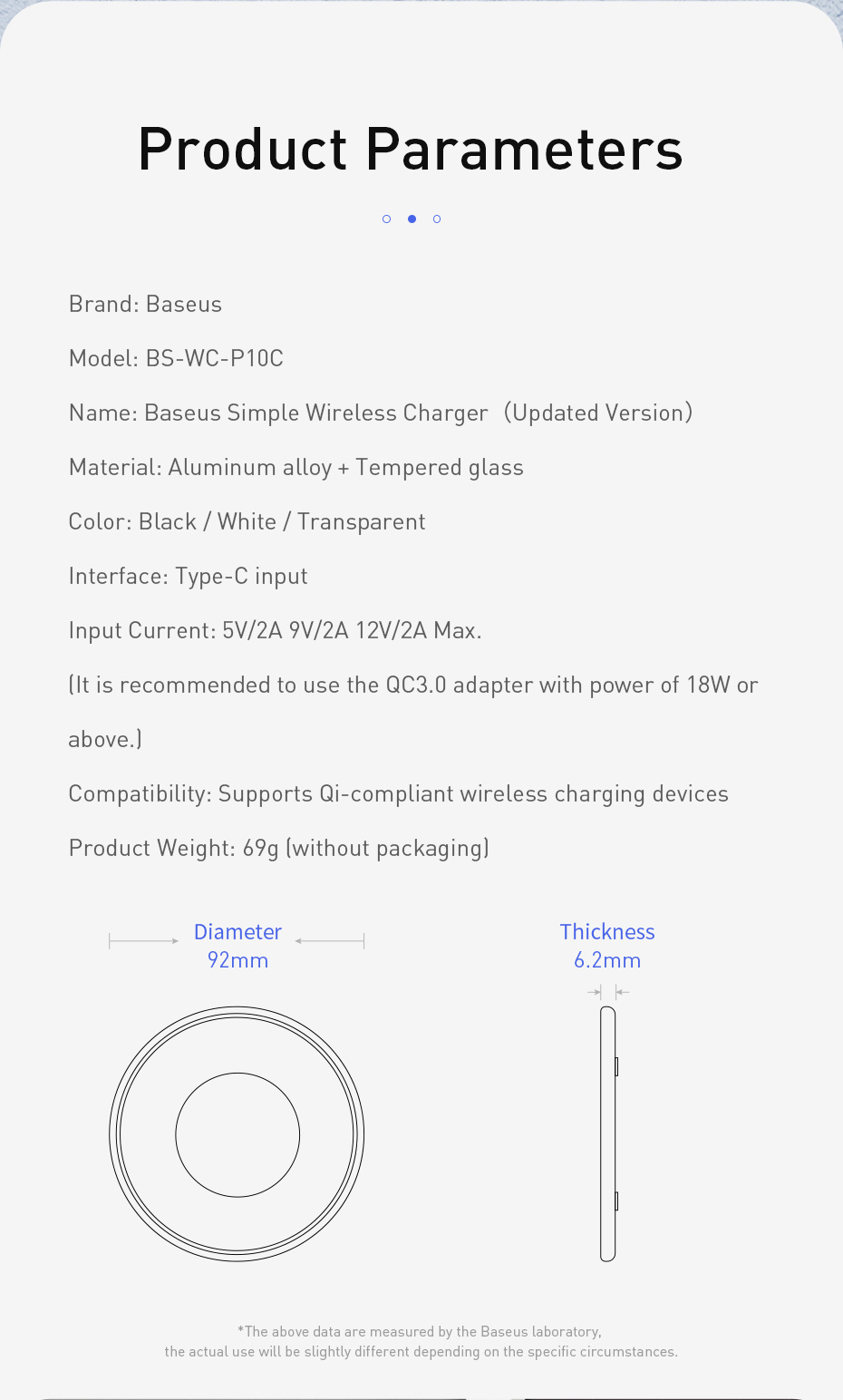 Baseus 15w quick charge wireless charger fast wireless