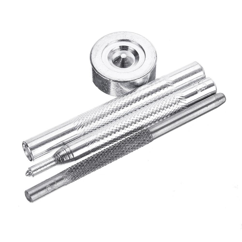 4 pcs metal leather craft tools snap rivet fastener