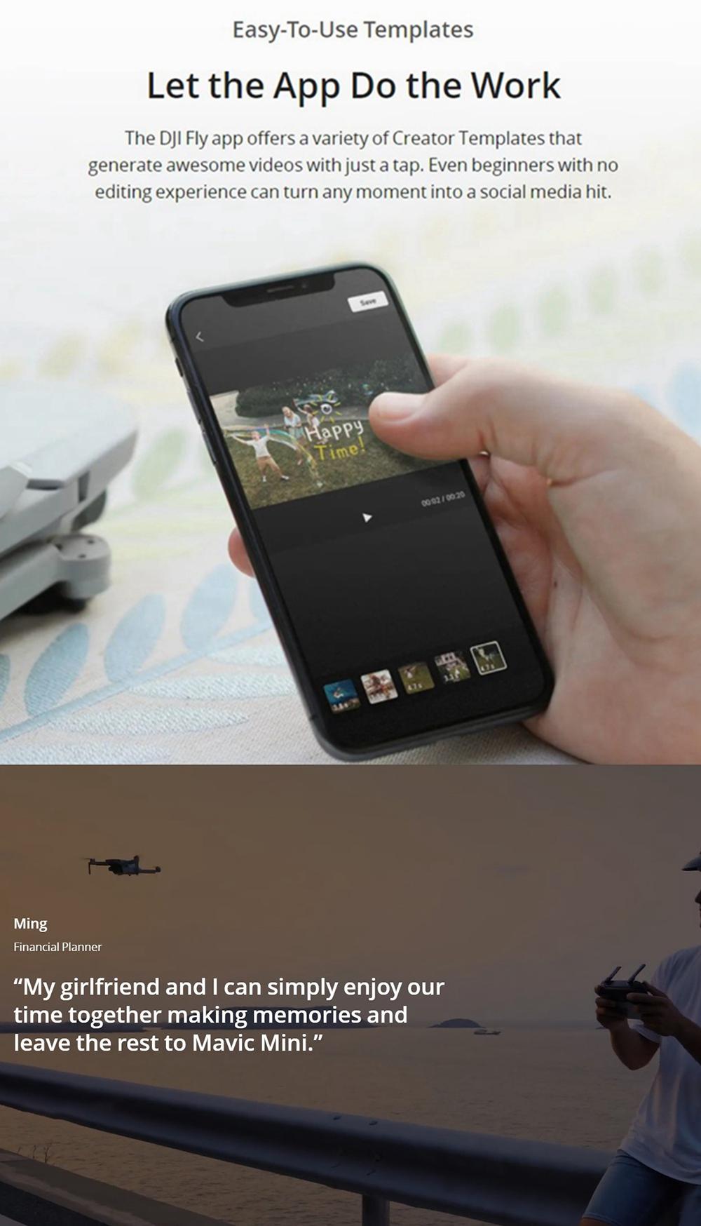 DJI Mavic Mini 4KM FPV with 2.7K Camera 3-Axis Gimbal 30mins Flight Time 249g Ultralight GPS RC Drone Quadcopter RTF 18