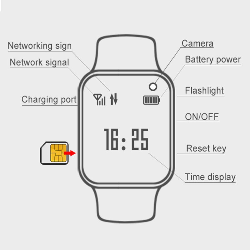 Kids Swimming Smart Watch Touch Screen Smart Bracelet GPRS