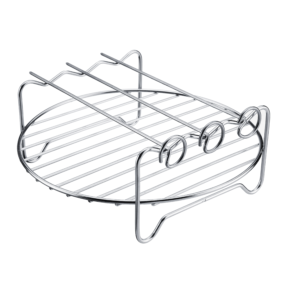 6pcs 9 Inch Non-stick Air Fryer Accessories Set Cake Pizza