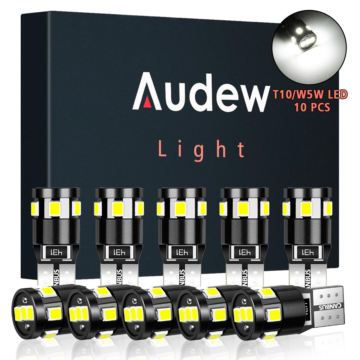 Audew t10 w5w car 2835 smd led side marker lights parking interior bulbs canbus error free 2.7w 4882k xenon white 10pcs Sale - Banggood.com ...