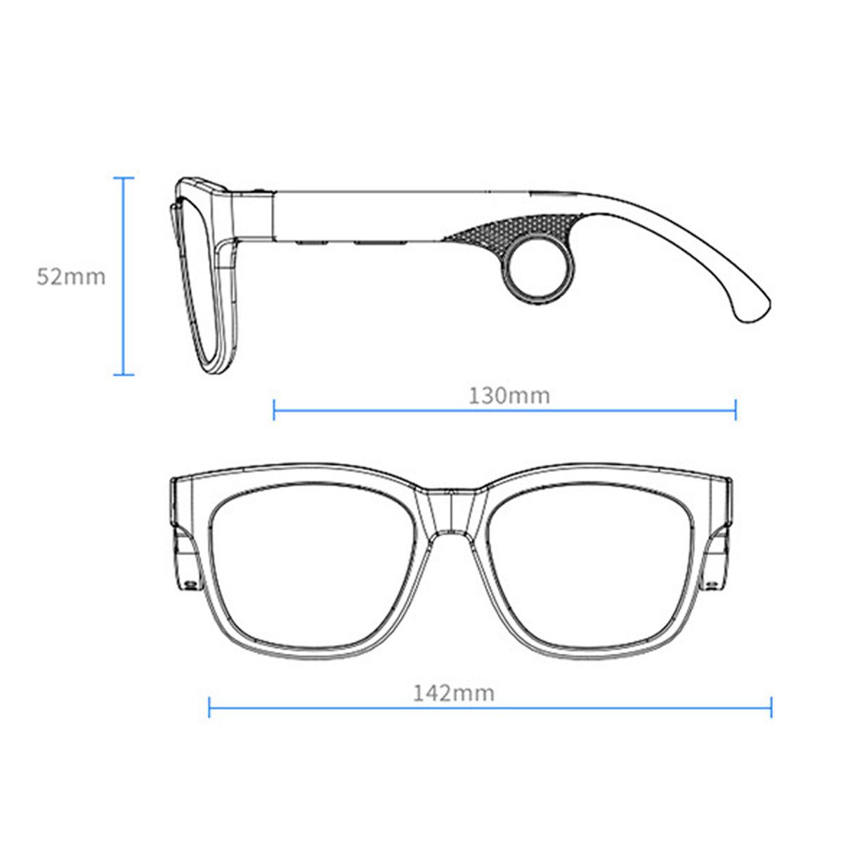 Smart glasses bluetooth polarized glasses magnetic