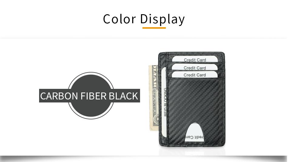 Bakeey Carbon Fiber Pattern RFID Anti-scan Ultra-thin PU