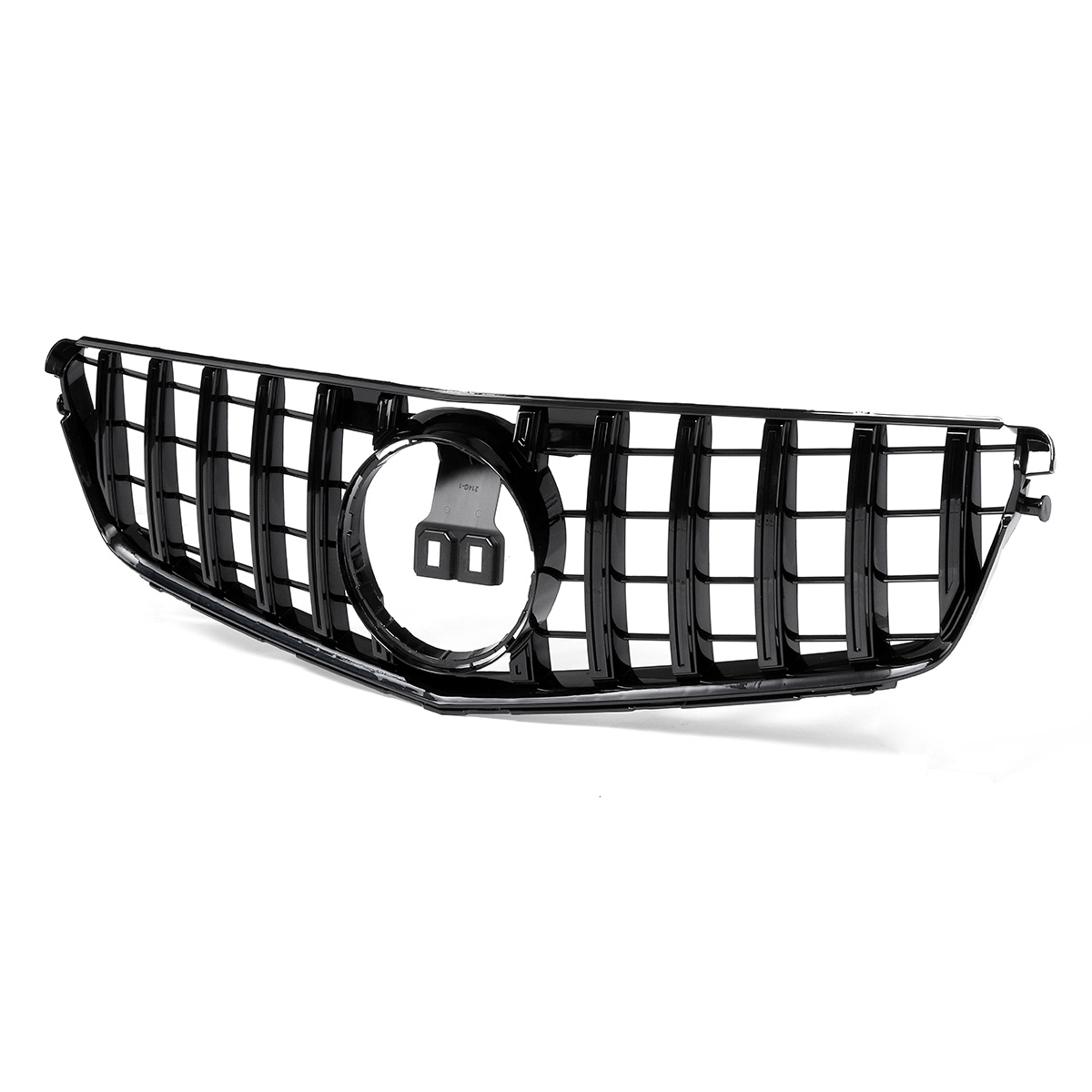 Car GTR Style Grille Front Bumper Grill Black for Mercedes