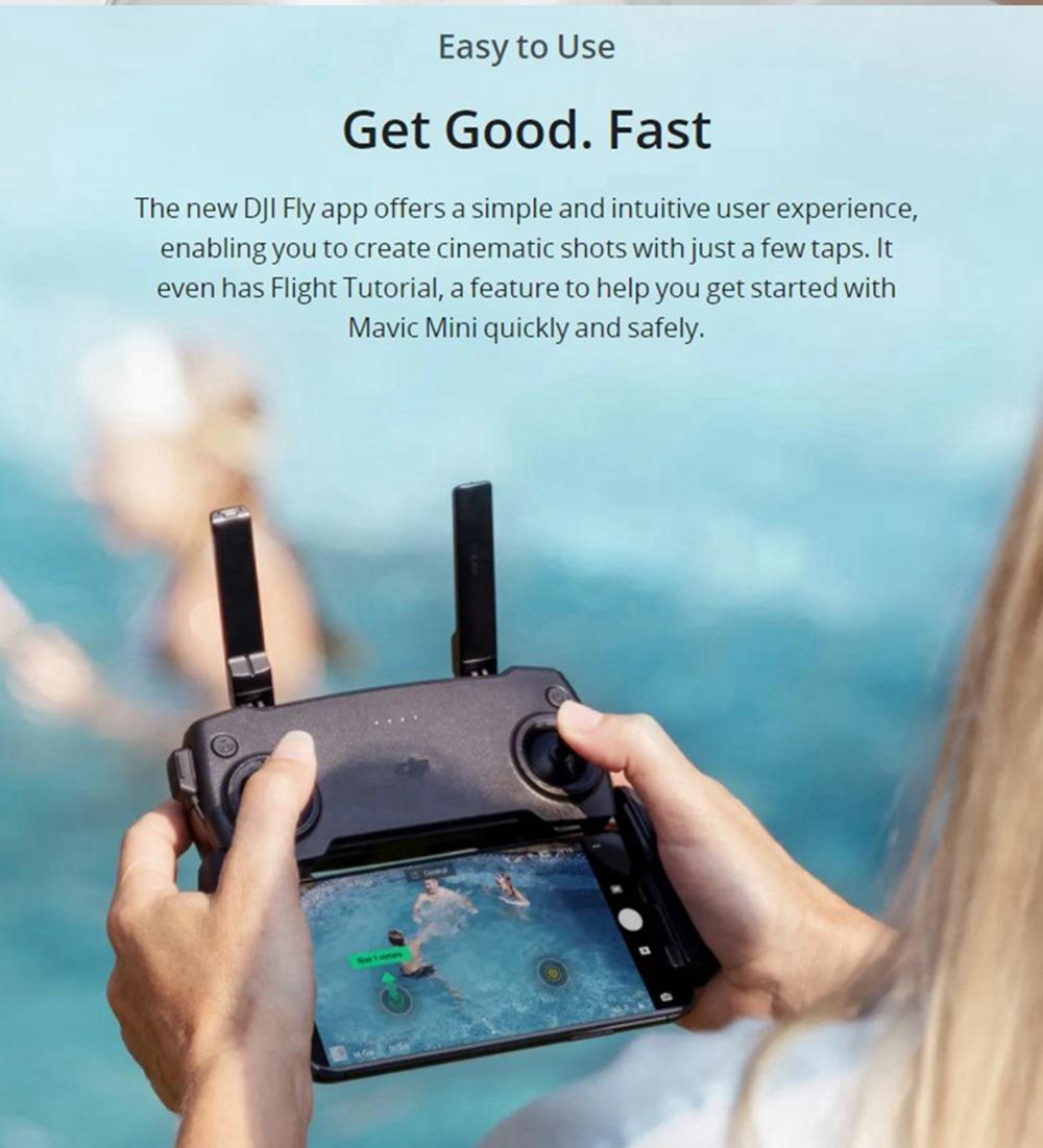 DJI Mavic Mini 4KM FPV with 2.7K Camera 3-Axis Gimbal 30mins Flight Time 249g Ultralight GPS RC Drone Quadcopter RTF 16