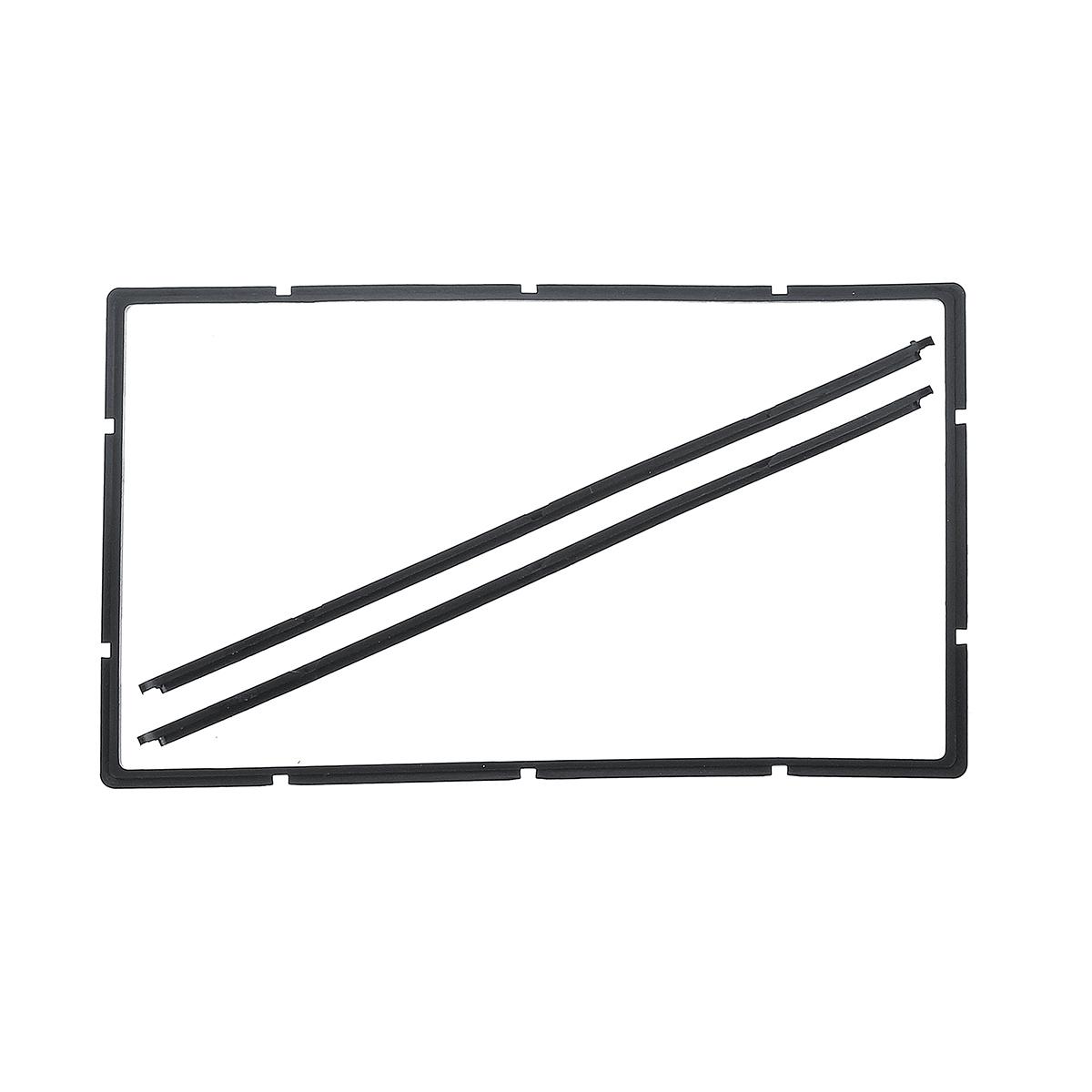 Double 2 din car dashboard stereo panel frame facia trim
