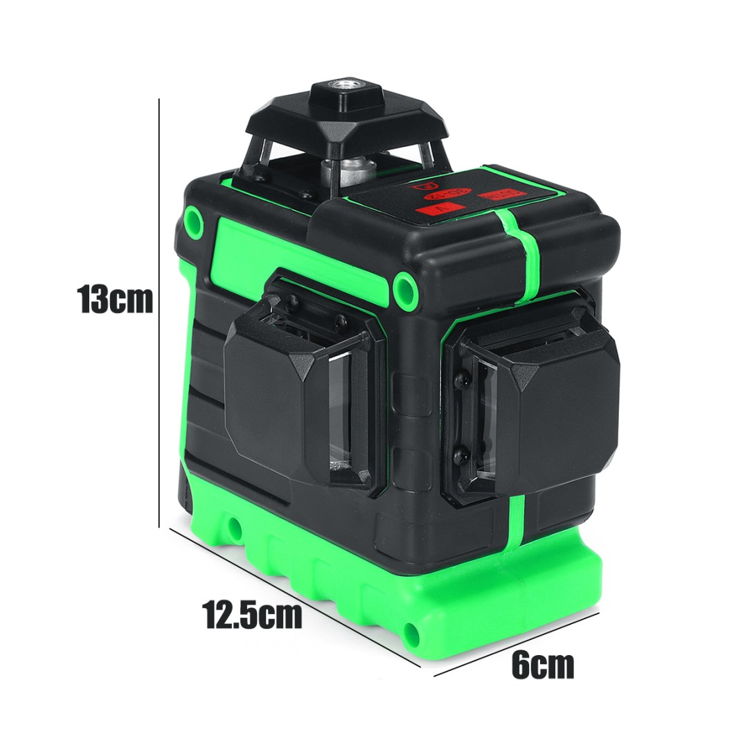 3D 12 Cross Line Laser Line Laser Spirit Level Automatic Self Leveling 26