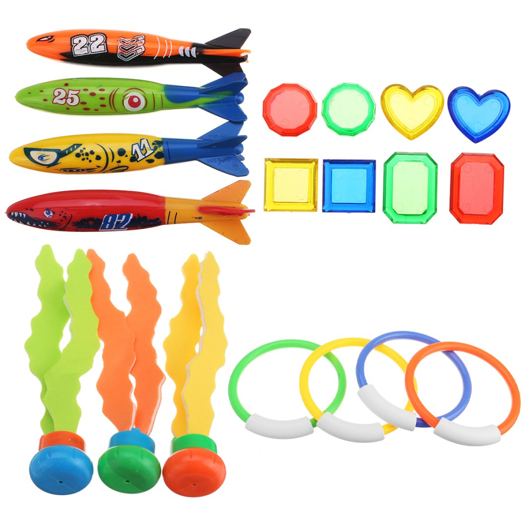 19PCS Swimming Pool Underwater Diving Toys Water Play Toys for Kids 15