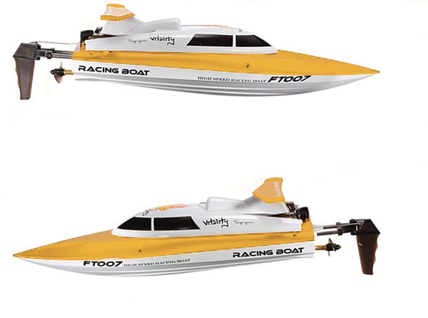 FT007 4CH 2.4G Yellow High Speed Racing RC Boat