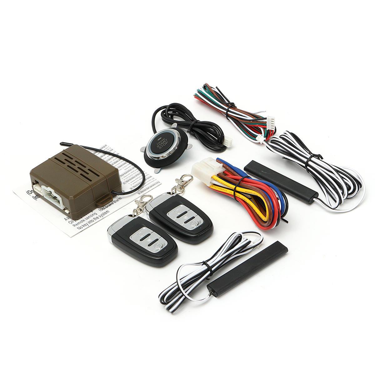 hight resolution of 8pcs car alarm start engine system pke keyless entry remote start push button cod