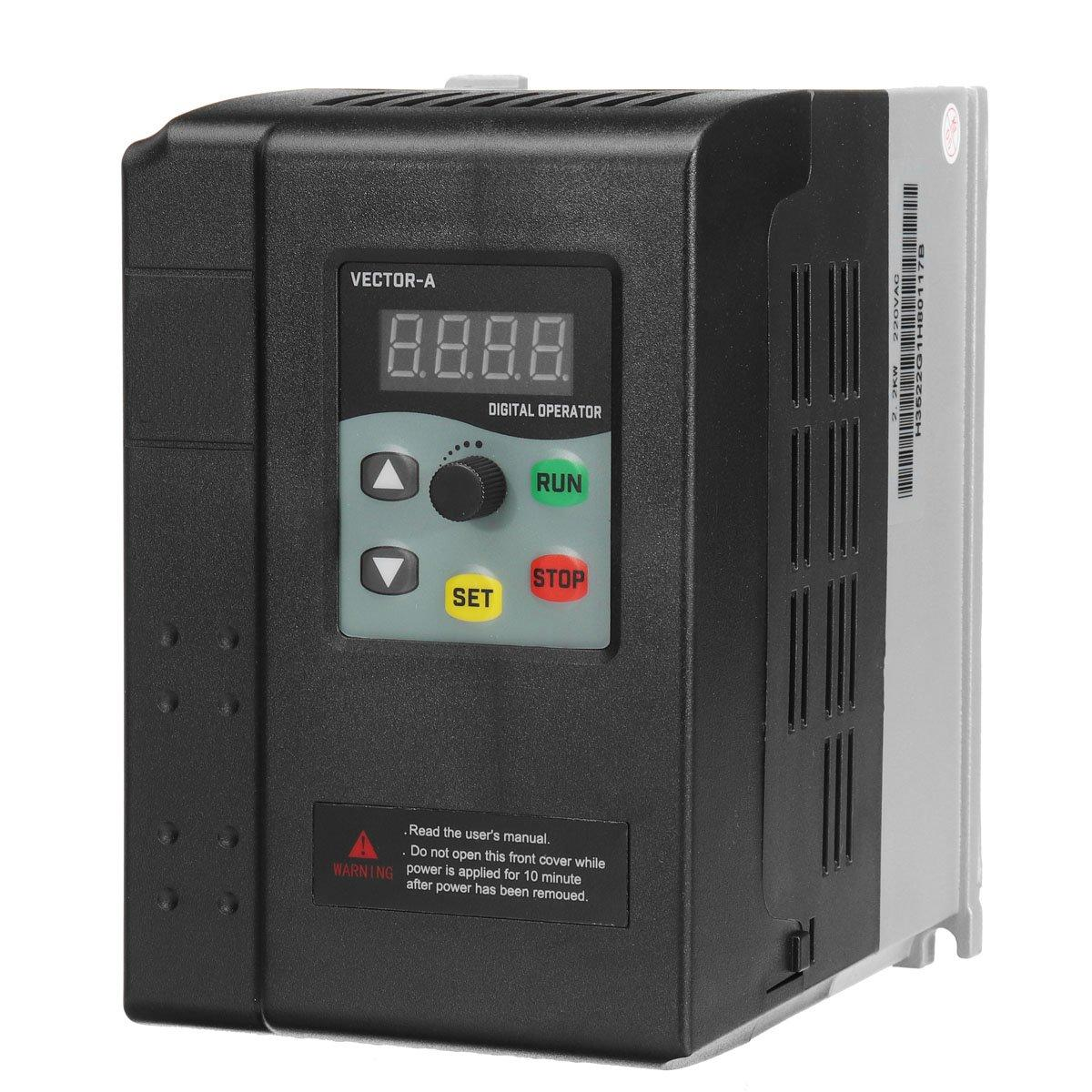hight resolution of 2 2kw 220v 9 5a 1hp to 3 phase variable frequency inverter motor drive vsd vfd cod