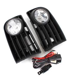 car front bumper fog lights grill kit with 55w h3 bulb white for vw golf mk5 rabbit 06 09 cod [ 1200 x 1200 Pixel ]