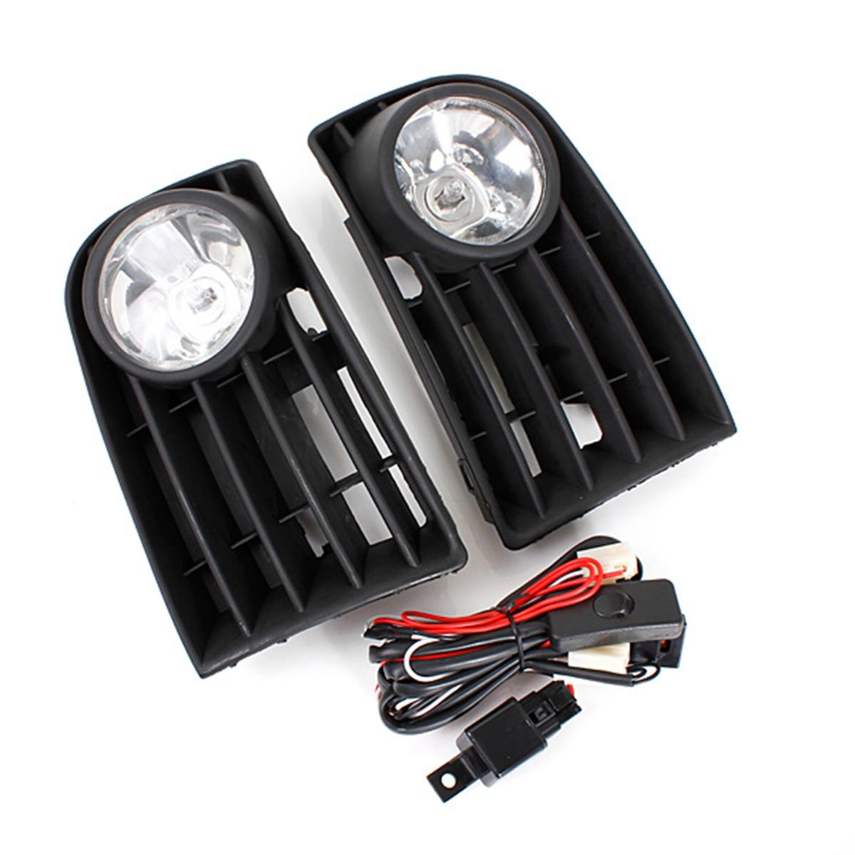 hight resolution of car front bumper fog lights grill kit with 55w h3 bulb white for vw golf mk5 rabbit 06 09 cod