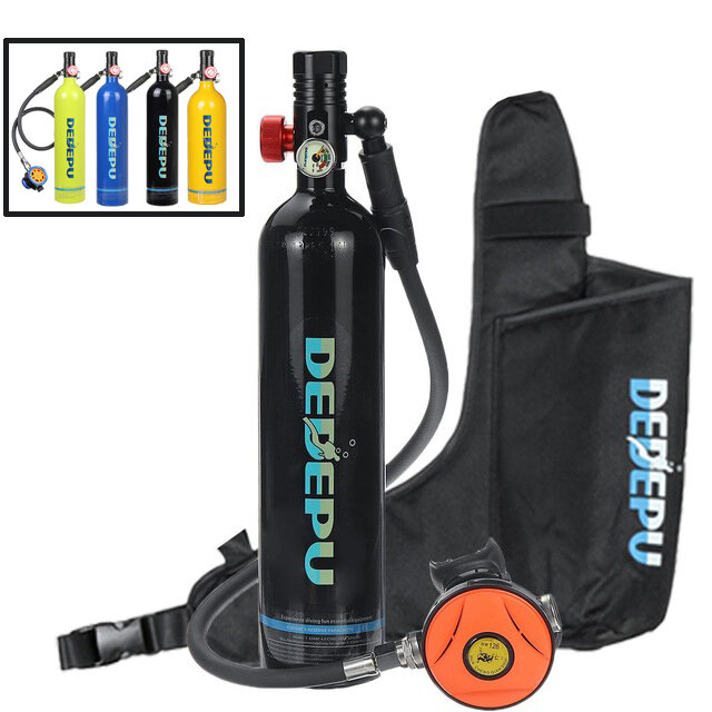 DEDEPU 1L Portable Scuba Diving Oxygen Tank Cylinder Underwater Respirator Diving Scuba Max Pressure 3000PSI/200BAR/20MPa