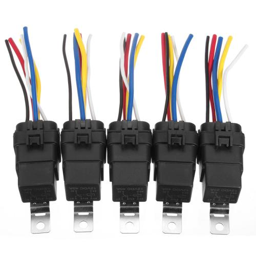 small resolution of 5 pcs automotive relay switch harness 12awg wires waterproof 40 30amp 12vdc