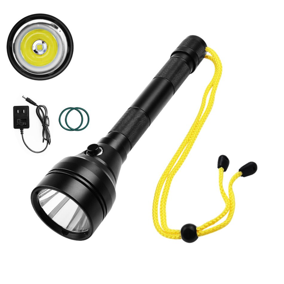 SEEKNITE SD07 XPH70 3000lm 6000K Underwater 100m LED Diving Flashlight Super Bright Camera Fill Light LED Searching Flashlight