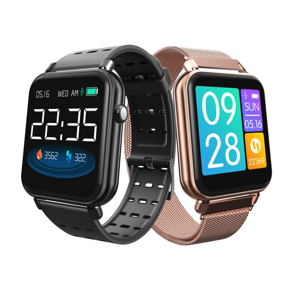 Bakeey Y6 Pro Fun Dynamic Icon Smart Watch HR Blood Pressure Stopwatch Music Weather Smart Watch